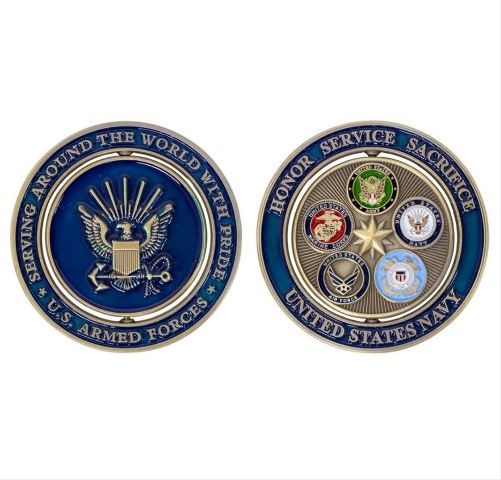 """Vanguard COIN: NAVY PROUD MILITARY FAMILY 2"""""""