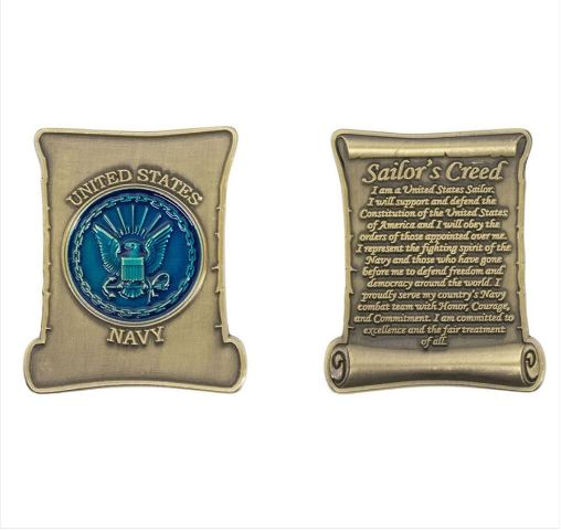 Vanguard COIN: NAVY SAILOR'S CREED 2""