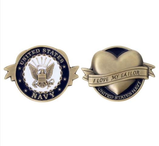 "Vanguard COIN: US NAVY I LOVE MY SAILOR 2"""