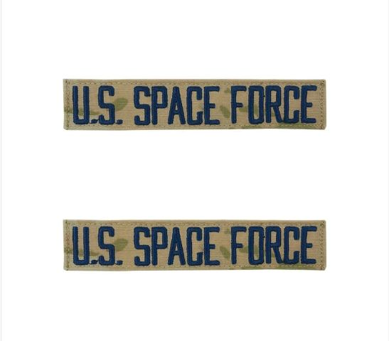 VanguardSPACE FORCE TAPE: U.S. SPACE FORCE - EMBROIDERED ON OCP WITH HOOK