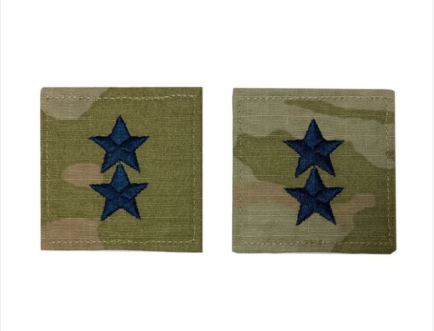 Vanguard SPACE FORCE OFFICER RANK INSIGNIA EMBROIDERED ON OCP: MAJOR GENERAL