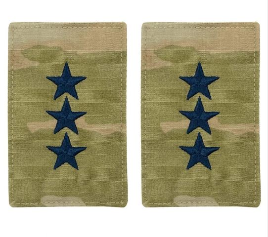 Vanguard SPACE FORCE OFFICER RANK INSIGNIA EMBROIDERED ON OCP LIEUTENANT GENERAL