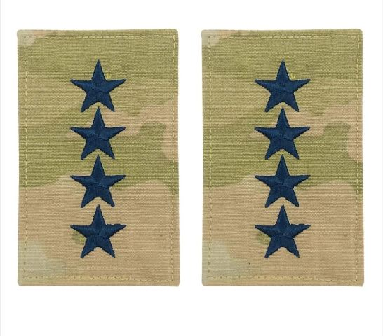 Vanguard SPACE FORCE OFFICER RANK INSIGNIA EMBROIDERED ON OCP WITH HOOK: GENERAL