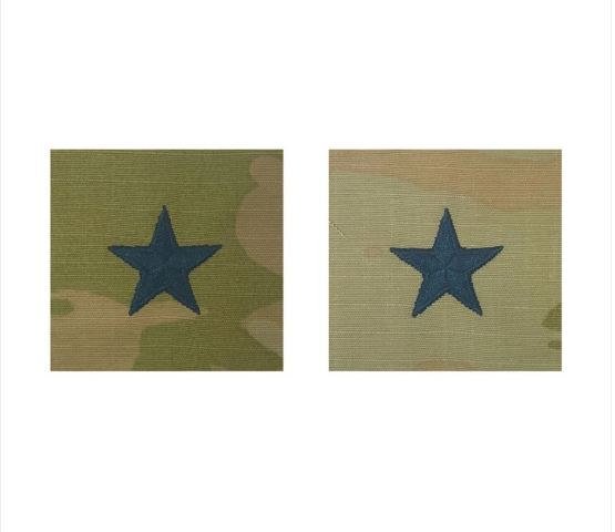 Vanguard SPACE FORCE EMBROID. OCP SEW ON OFFICER CAP RANK INSIGNIA BRIG. GENERAL