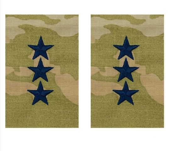 Vanguard SPACE FORCE EMBROIDER OCP SEW OFFICER RANK INSIGNIA LIEUTENANT GENERAL