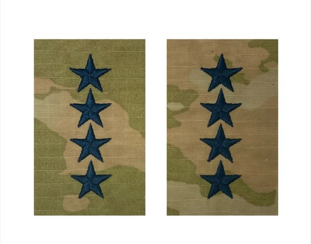 Vanguard SPACE FORCE EMBROIDERED OCP SEW ON OFFICER RANK INSIGNIA: GENERAL