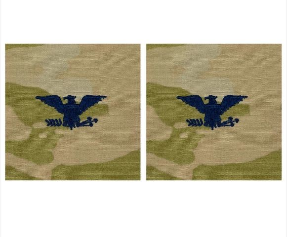 Vanguard SPACE FORCE EMBROIDERED OCP SEW ON OFFICER RANK INSIGNIA: COLONEL