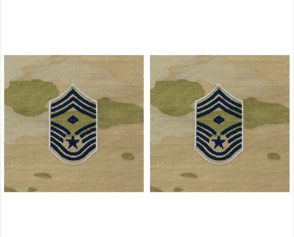 Vanguard SPACE FORCE EMBROIDERED RANK: CHIEF MASTER SERGEANT DIAMOND OCP SEW ON