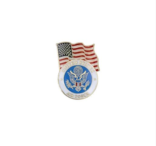Vanguard AIR FORCE LAPEL PIN: UNITED STATES FLAG WITH AIR FORCE EMBLEM