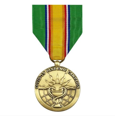 Vanguard FULL SIZE MEDAL: PHS COVID-19 PANDEMIC CAMPAIGN MEDAL