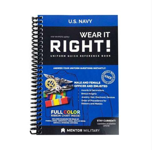 Vanguard U.S. NAVY UNIFORM BOOK: WEAR IT RIGHT!