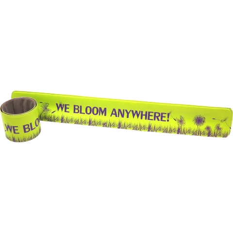 Vanguard Military Brat We Bloom Anywhere Wrist Slapper Bracelet - Green