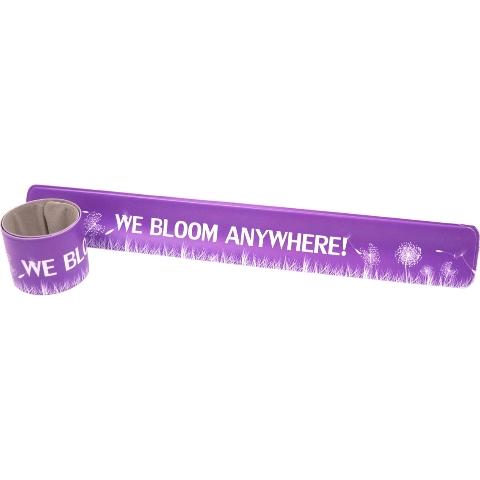 Vanguard Military Brat We Bloom Anywhere Wrist Slapper Bracelet - Purple