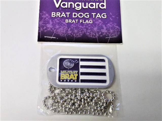 Vanguard Military Brat Dog Tag - Flag
