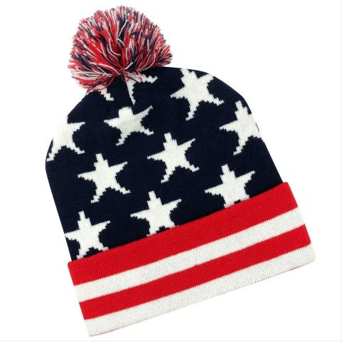 Vanguard US FLAG KNIT CAP WITH CUFF: RED-WHITE-BLUE (STARS & STRIPES)