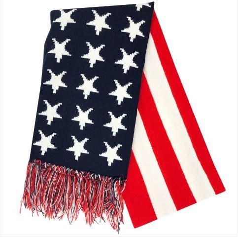 Vanguard US FLAG KNIT SCARF: RED-WHITE-BLUE (STARS & STRIPES)