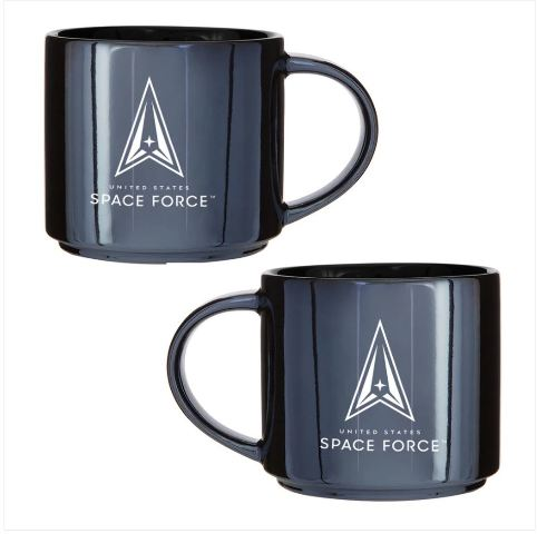 Vanguard US SPACE FORCE MUG 16OZ: GUNMETAL/BLACK