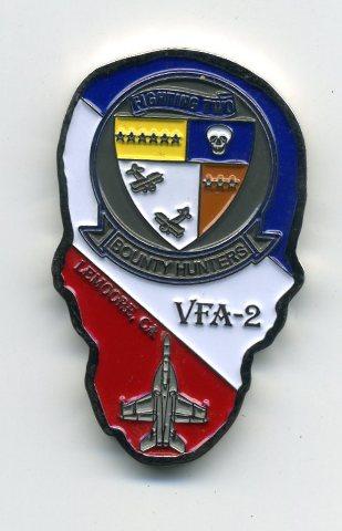 "Strike Fighter Squadron 2 VFA-2 ""Bounty Hunters"" Lemoore CA Skull Challenge Coin"