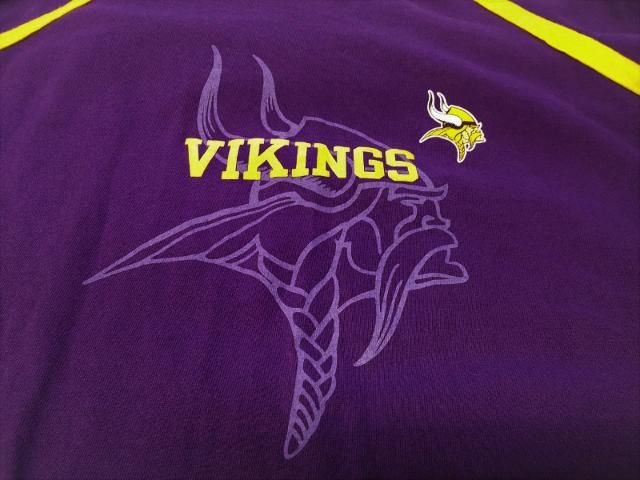 NFL Team Apparel Purple Minnesota Vikings Graphic T-Shirt Size XL Football