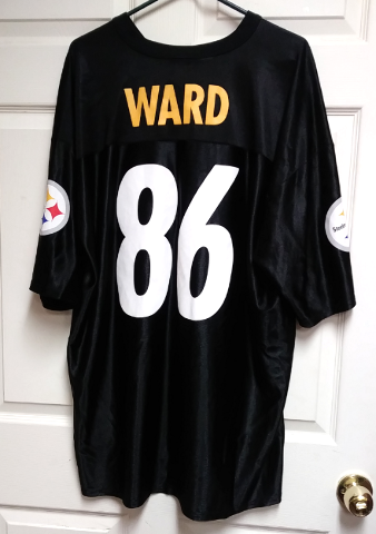 NFL Team Apparel Pittsburgh Steelers Hines Ward 86 Replica Jersey Size 2XL