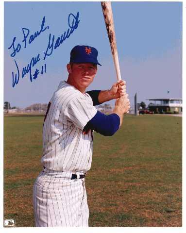 Wayne Garrett 8x10 Photo Autographed TO PAUL New York Mets MLB