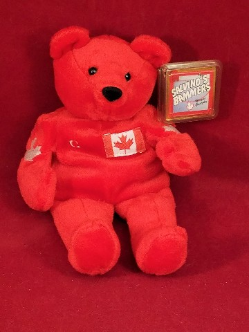 Salvino's Bammers Wayne Gretzky #99 Red Canada Cup 1999 Beanie Plush Bear