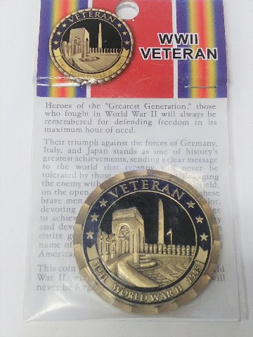"Vanguard Northwest Territorial Mint WWII VETERAN Coin 1-3/4"""