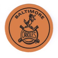 "2007 Topps Heritage Felt Logos #BAL 1958 Baltimore Orioles 5"" Patch"