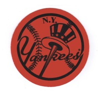 "2007 Topps Heritage Felt Logos #NYY 1958 New York Yankees 5"" Patch"