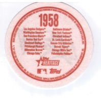 "2007 Topps Heritage Felt Logos #SFG 1958 San Francisco Giants 5"" Patch"