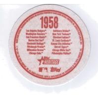 "2007 Topps Heritage Felt Logos #WAS 1958 Washington Senators 5"" Patch"