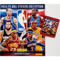 2014/15 Panini NBA Basketball Sticker Collection 72 Page Album & 5 Packs