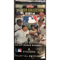 2014 Topps MLB Baseball 10 Sticker Packets (Sealed)