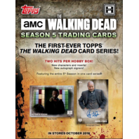 2016 Topps AMC The Walking Dead Season 5 Hobby Box (Sealed)