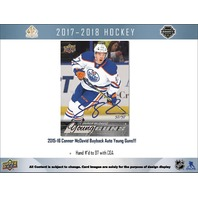 2017/18 Upper Deck UD SP Authentic Hockey Hobby 16 Box CASE (Sealed) SPA