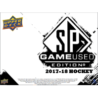 2017/18 Upper Deck SP Game Used Hockey Hobby Box (Sealed) 17/18