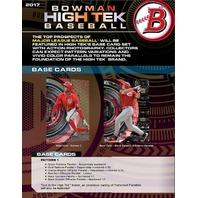 2017 Bowman High Tek Baseball Hobby BOX (1 Pack/10 Cards)(Sealed)(Random)
