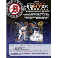 2017 Bowman High Tek Baseball Hobby BOX (1 Pack/10 Cards)(Sealed)(Random)