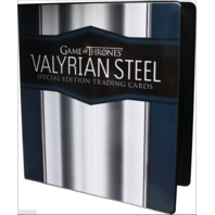 2017 Rittenhouse Game of Thrones Valyrian Steel BINDER w/ 1 Exclusive Trading Card
