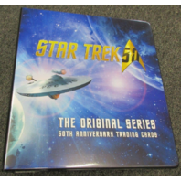 2017 Star Trek The Original Series 50th Anniversary Binder w/Promo Card