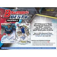 2018 Bowman's Best Baseball Hobby 6 Pack MINI-BOX (Factory Sealed)(Random)