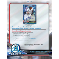 2018 Bowman Chrome Baseball Hobby PACK (5 Cards)(Sealed)(Random)