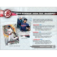 2018 Bowman High Tek Baseball Hobby BOX (1 Pack/10 Cards)(Sealed) Release 9/12