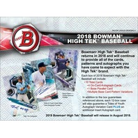 2018 Bowman High Tek Baseball Hobby BOX (1 Pack/10 Cards)(Sealed) Release 9/12