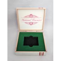 2018 Panini National Treasures NT Baseball Trading Cards Empty Cedar Cigar Box