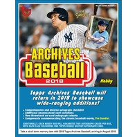 2018 Topps Archives Baseball 10 Hobby Box Case (Sealed)