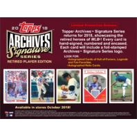 2018 Topps Archives Signature Series Retired Baseball Hobby 20 box Case(Sealed)