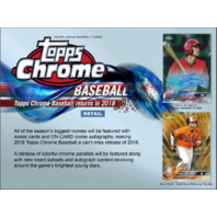 2018 Topps Chrome Baseball Blaster Box (Sealed)