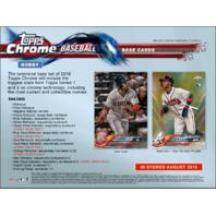2018 Topps Chrome Baseball Hobby 12 Box CASE (Factory Sealed)