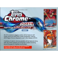 2018 Topps Chrome Baseball Hobby 12 Box CASE (Factory Sealed)